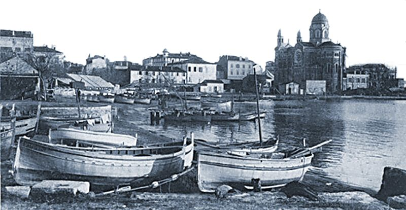Le port vers 1900 - The harbour around 1900