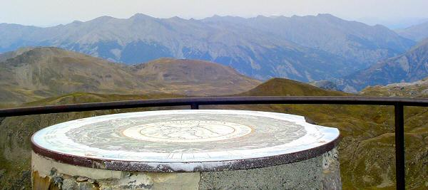 Cime de la Bonette - Table Orientation